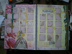 calendar art journal example