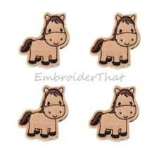 Full Horse applique felt embellishment patch by EmbroiderThat, $4.25