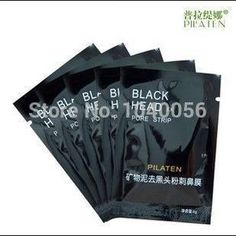 PILATEN Face Care Tearing style Deep Cleansing purifying Conk Nose Blackhead Remover, acne treatment, black mud face mask 1pcs