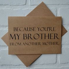 Items similar to BROTHER FROM ANOTHER mother card will you be my groomsman wedding card bro funny card funny bridal card funny groomsmen proposal cards usher on Etsy Bridesman Proposal, Groomsmen Proposal, Be My Groomsman, Groomsman Gifts, Asking Groomsmen, Groomsmen Cards, Groomsmen Invitation, Wedding Invitations, Best Man Wedding Speeches