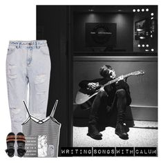 """""""Writing Songs With Calum"""" by hana-69 ❤ liked on Polyvore featuring Pull&Bear, Casetify, Forever 21, ASOS, women's clothing, women's fashion, women, female, woman and misses"""