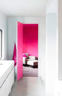 Hot pink door - LOVE this!...
