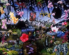 Melanie Carvahlo. Untitled Landscape, 2001 (Mixed Media on Paper).