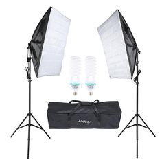 High Quality Andoer Photography Studio Cube Umbrella Softbox Light Lighting Tent Kit Photo Video Equipment 2 * 135W Bulb 2 * Tripod Stand 2 * Softbox 1 * Carrying Bag for Portrait Product from tomtop.com
