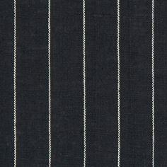 Leinen Nadelstreifen 2 – schwarz