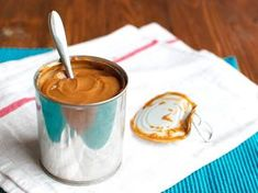 Dulce de leche is a thick, creamy caramel sauce traditionally made with milk and sugar. It's very easy to make at home from a can of sweetened condensed milk!