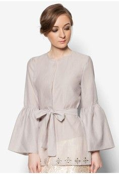 Buy POPLOOK Premium for Zalora Organza Kimono Wrap Online | ZALORA Malaysia