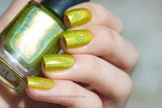 Colors by Llarowe Woodstock Holo Nail Polish, Holographic Nail Polish, Woodstock, Druzy Ring, Swatch, Make Up, Colors, Indie, Beauty