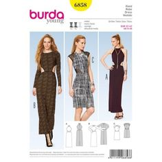 76303d58ea43 Patron de robe - Burda 6858 Fashion Catalogue