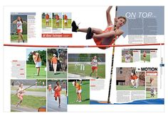 Sports day yearbook spread