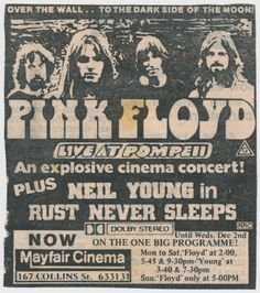 My older brother took me to see this in 1979 or 1980. It was the most mind blowing music film I've ever seen and was hugely influential on my future musical life. I smuggled in cassette player and recorded the whole thing.