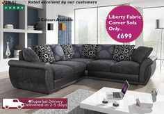 The Liberty Fabric Corner Sofa is the beauty of any living room. With its distinctive design and bonus features it truly is an unmissable buy. It comes in different colours too! Check it out on http://ift.tt/1TRnAh1