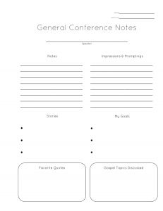 My Favorite NoteTaking Method For General Conference Thanks