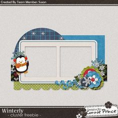 Scrapbooking TammyTags -- TT - Designer - Connie Prince, TT - Item - Frame, TT - Style - Cluster, TT - Theme - Winter or Snow