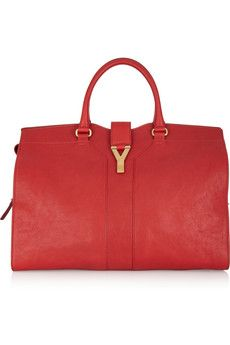 Yves Saint Laurent | Cabas Chyc Large leather tote | NET-A-PORTER.COM