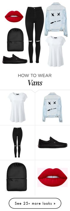 """""""#240"""" by lapetitenene on Polyvore featuring Rains, Topshop, Lands' End and Vans"""
