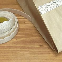 Natural Lace Fabric Decor Tape 06 White adhesive by WonderlandRoom, $8.99