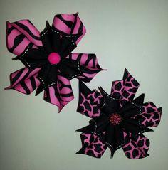 Kanzashi flowers.