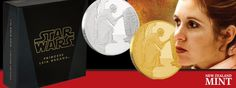 Classic Star Wars Gold & Silver Collection Welcomes Princess Leia Mint Coins, Princess Leia, New Zealand, Star Wars, Stars, Classic, Silver, Gold, Movie Posters
