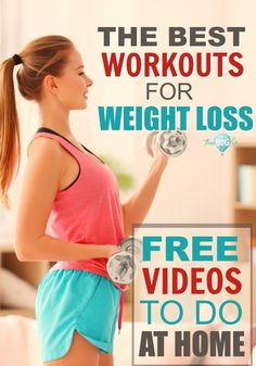 """At the end of a workout, do you EVER say, """"I wish I hadn't done that?"""" NO! You're always glad you did it! Here are 10 FREE exercise videos that you can mix and match to burn fat and lose weight. #freeworkouts #youtubeexercisevideos #exercisevideos #totalbodyworkouts"""