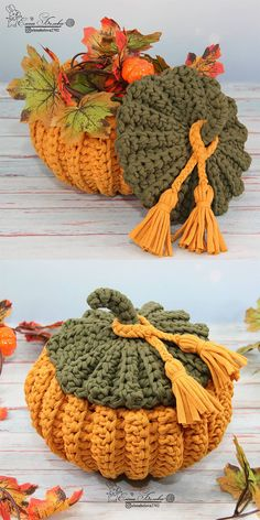 Crochet Fall, Holiday Crochet, Cute Crochet, Crochet Crafts, Yarn Crafts, Crochet Projects, Crochet Pumpkin Pattern, Halloween Crochet Patterns, Crochet Stitches Patterns