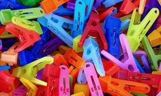 Colorful Clothespins – Monday's Laundry Day Jigsaw Puzzle
