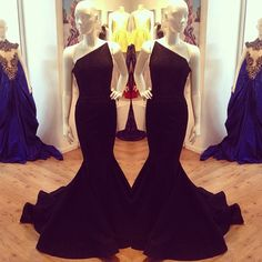 """""""I love our new strapless pointed asymmetrical gown """"Bella"""" she is beautiful this gown is now Available in black and can be ordered by emailing…"""""""