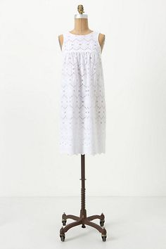 I know I have a lot of white already but this is beautiful!! Ivy Eyelet Mini Dress #anthropologie