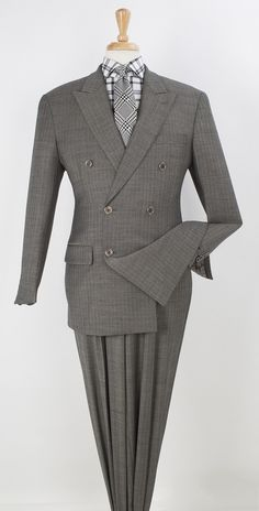 Style & class all wrapped up in this wool double breasted suit. Mens Fashion Suits, Mens Suits, Fashion Outfits, Mens Double Breasted Blazer, Tailored Suits, Business Casual Outfits, Well Dressed Men, Pattern Fashion, Menswear
