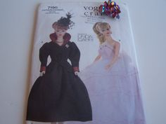 Barbie Doll Pattern, Doll Sewing Pattern, Lingerie, Bustier, Vogue 7190