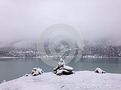 Lake And Mountain In Snow - Download From Over 24 Million High Quality Stock Photos, Images, Vectors. Sign up for FREE today. Image: 42868484
