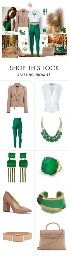 """""""first days of autumn"""" by lumi-21 ❤ liked on Polyvore featuring Dsquared2, Anthony Vaccarello, Vionnet, Sylva & Cie, Anne Sisteron, Vince Camuto, Marni, Alexander Wang, Fall and GREEN"""