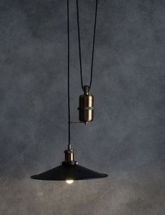 Paris Rise and Fall Ceiling Light | M&S