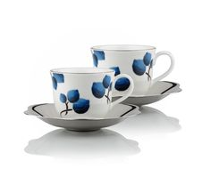 This set of two cups and saucers (large size) in white with blueberry designed over it, is made from high quality ceramic by Arttdinox. Part of the Blueberry Collection, this elegant & graceful cup and saucer set is great for mixing and matching with other pieces.  To know more about cup and saucer set online in India, visit Arttdinox.