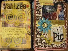 Scrapbook + Art Journaling = Mini Book Love