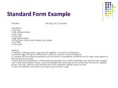 standard form recipe example  7 Best standard recipe images | Cleanse recipes, Standard ...