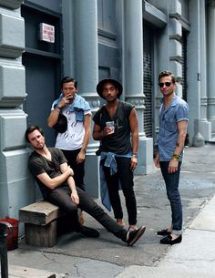 Sean, Nate, Marcus, and Greg, in New York.