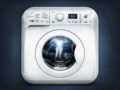 Wash Machine designed by Steven Doroban. Mobile Application Design, Application Icon, Mobile Design, Mobile Icon, Mobile Ui, Dot Icon, Android Icons, 3d Icons, App Icon Design