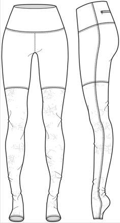 V5 Knit Leggings Free Illustrator Fashion Technical