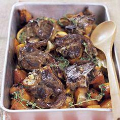Roast Lamb Chops with Butternut and Lemon