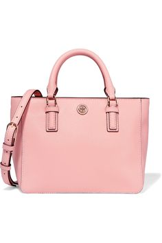 TORY BURCH Robinson mini textured-leather tote. #toryburch #bags #shoulder bags #hand bags #leather #tote #