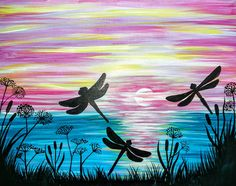 Dandelion sunset painting. USE PROMO CODE PAINTME40 TO SAVE 40% OFF ALL YOUR TICKETS--LET THE STRESS MELT AWAY WHILE WE CREATE THIS BEAUTIFUL PAINTING. BRING YOUR BESTIES, FAMILY, OR YOUR HUNNY AND MAKE IT A NITE TO REMEMBER