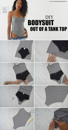 Here is a way to transform your old tank top into a bodysuit. Bodysuits are extremely trendy! With this tutorial you will save a lot...