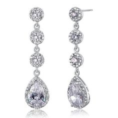 Cercei Mireasa Teardrop Luxury Diamond Earrings, Drop Earrings, Butterfly, Luxury, Chandelier, Gifts, Weddings, Jewelry, Presents