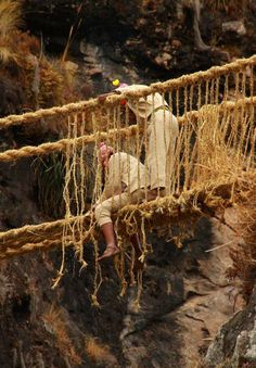 Every year, rural communities in Peru carry out an ancient tradition that stems back to the age of the Incan Civilization. Considered a sacred expression of ritual, history and renewal, Peruvians annually spend three days weaving the Q'eswachaka rope bridge to cross one of the many gaps in the ancient Incan road system. The bridge is the last of its kind and the treacherous process of hanging the rope bridge across a 92 foot span must be repeated each year.