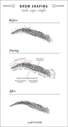 tricks for gorgeous eyebrows Our DIY brow shaping guide will help you find the best shape for your beautiful face.Our DIY brow shaping guide will help you find the best shape for your beautiful face. Makeup Tips, Beauty Makeup, Hair Makeup, Hair Beauty, Beauty Tips, Makeup Ideas, Makeup Products, Makeup Tutorials, Makeup Style