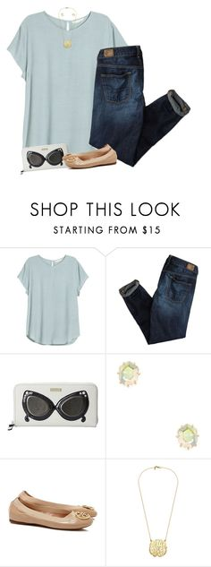 """""""retro sunglasses"""" by apocketfulofprep ❤ liked on Polyvore featuring H&M, American Eagle Outfitters, Kate Spade, Kendra Scott, Tory Burch, women's clothing, women's fashion, women, female and woman"""