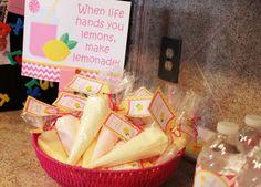 Favors at a Pink Lemonade Party #pinklemonade #partyfavors