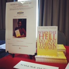 Book Stand at the Writer 2 Author Seminar.