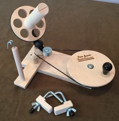 If my ball winder ever breaks, this is what I want!  Unfinished Maple Jumbo Yarn Ball Winder
